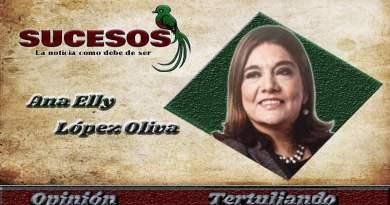 Licenciada Ana Elly López de Bonilla en su logo como columnista del medio de comunicación Sucesos Guatemala