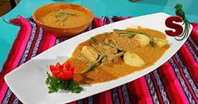 delicioso plato de iguashte, comida típica guatemalteca preparada a base de pepitoria