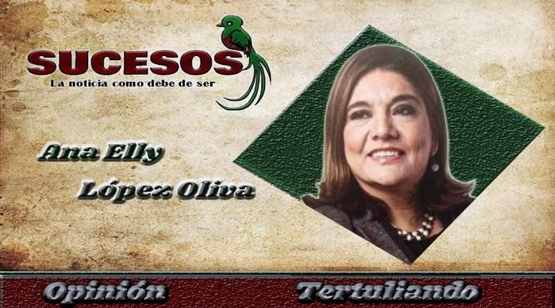 Licenciada ex magistrada de la CC de Guatemala Ana Elly Lopez Oliva, En su columna para el medio de comunicación Sucesos Guatemala, tema hablemos de corrupción