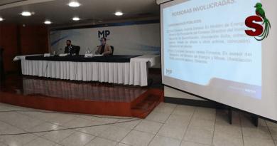 Conferencia de prensadel Ministerio Público sobre el caso mecanismos de corrupción.