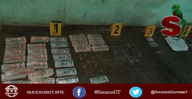 Incautación de un millón de quetzales en Escuintla