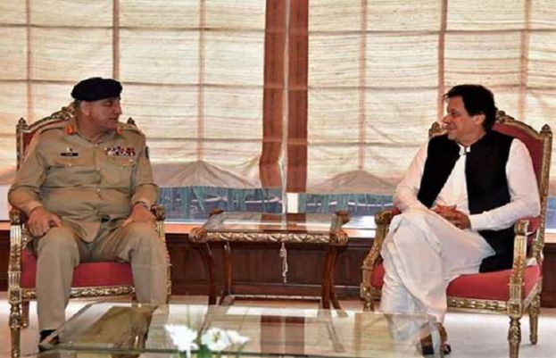 COAS Bajwa with PM Imran Khan