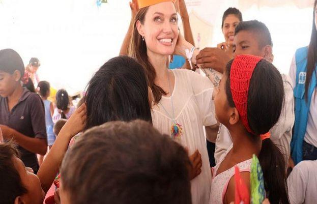 Hollywood star Angelina Jolie urges international support for Venezuelan children