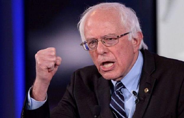 US presidential contender from Democratic Party Bernie Sanders