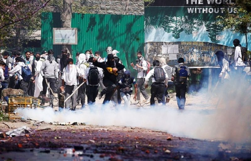Image result for Students Subjected To Brute Force in Pulwama, Many Injured