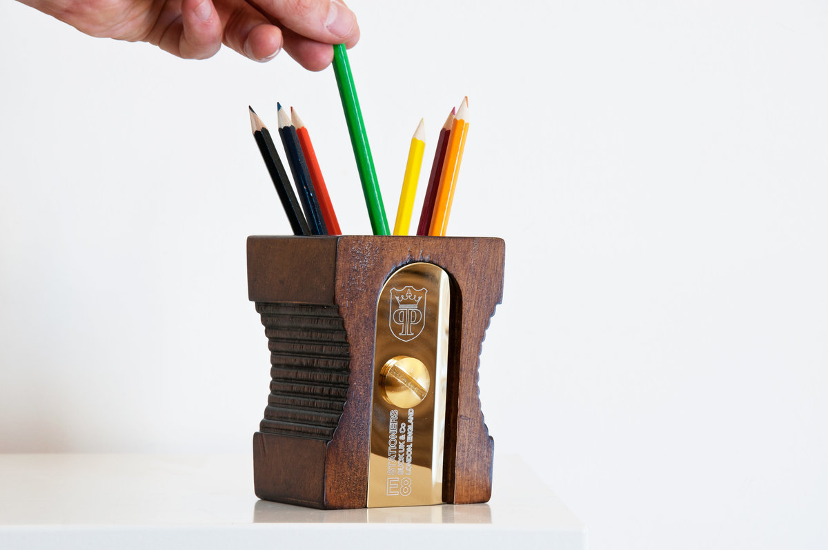 Sharpener Desk Tidy Supersize Pencil Sharpener Pen Pot
