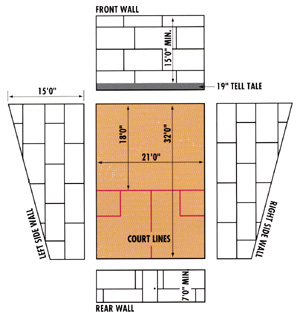squash court diagram voy electric scooter wiring construction and installation sports unlimited