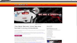 sunset limos website by sucoweb