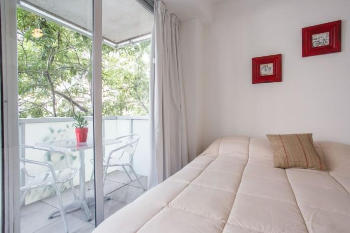 Apartamento Amoblado deluxe cama balcon