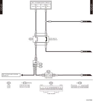Subaru Crosstrek Service Manual  Cruise control system Wiring diagram  Wiring system