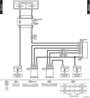 Subaru Crosstrek Service Manual  Seat heater system Wiring diagram  Wiring system