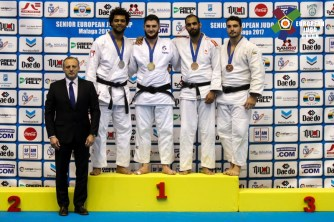 Joseph Terhec à l'European Cup de Malaga 2017 - Crédit : European Judo Union / Photographe: Gabriel Juan