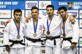 Luka Mkheidze à l'European Cup de Malaga 2017 - Crédit : European Judo Union / Photographe: Gabriel Juan