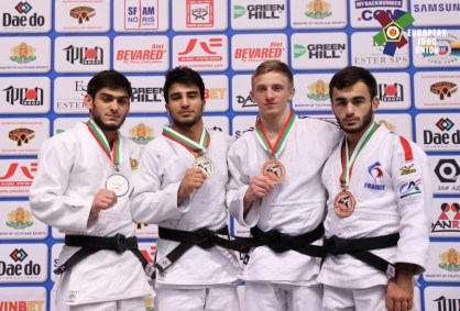 Luka Mkheidze à l'open européen de Sofia - Source : European Judo Union / Photographe : Kostadin Andonov