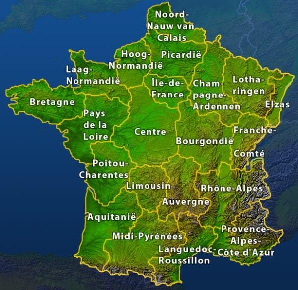 Regios In Frankrijk Vakantietips Logeren Bij Belgen