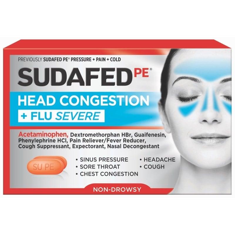 SUDAFED PE® HEAD CONGESTION + FLU SEVERE | SUDAFED®