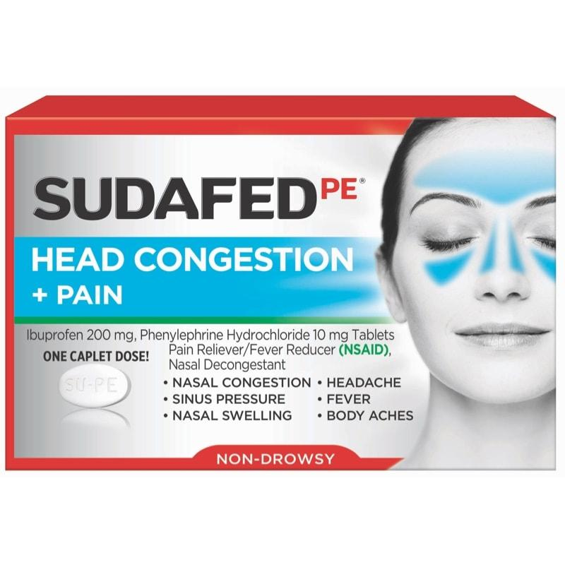 SUDAFED PE® for Head Congestion + Pain Relief | SUDAFED®