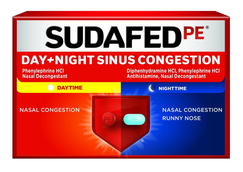 SUDAFED PE® DAY + NIGHT SINUS CONGESTION   SUDAFED®
