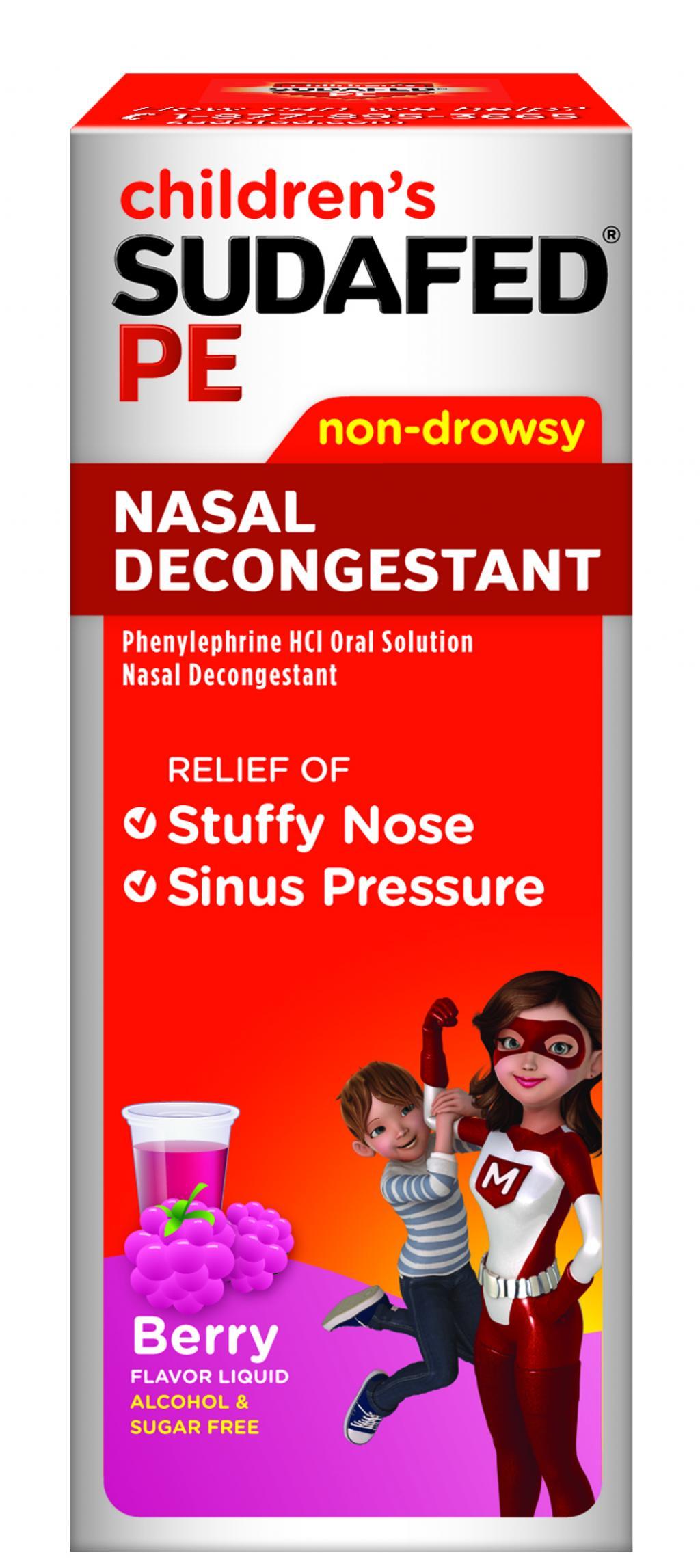 CHILDREN'S SUDAFED PE® NASAL DECONGESTANT | SUDAFED®