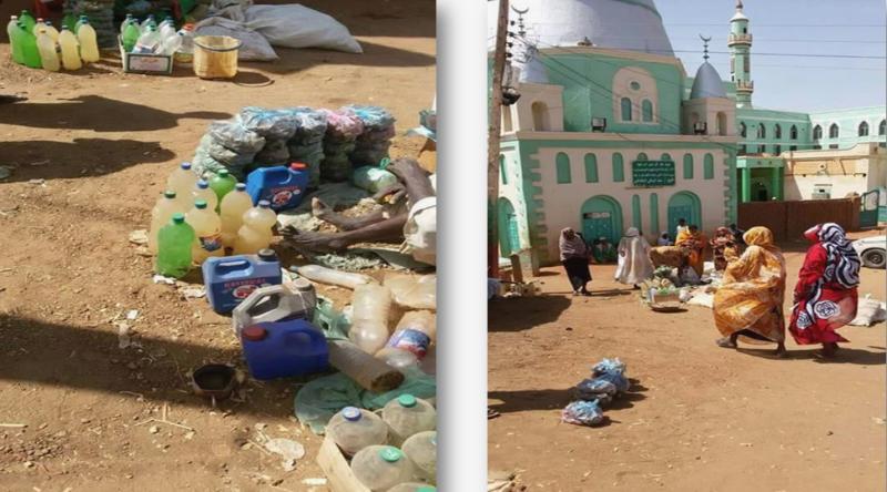 بالصورة : مريدو الشيخ المكاشفي بالشكينيبة يبتدعون مياه حفير يتبركون بها بمثابة زمزم !!