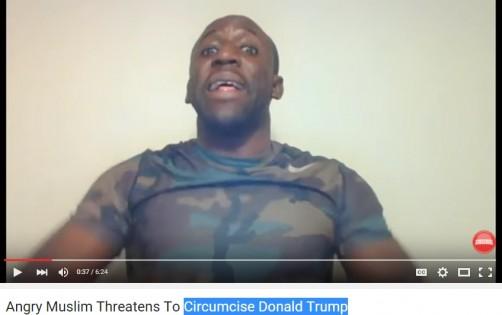 فيديو لمسلم يهدد فيه بختان دونالد ترامب بإستخدام السكين