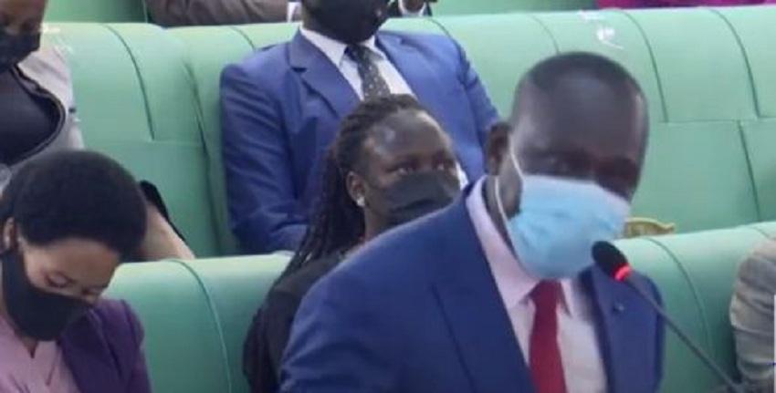 Ugandan lawmaker Gilbert Olanya. [Screen grab from YouTube]