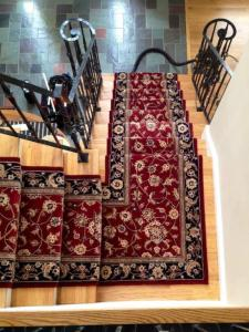 Nourison Burgundy Wool Stair Runner