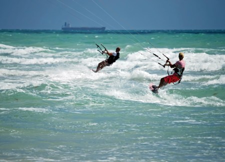 kite surfing bloubergstrand