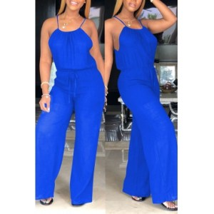 Blue loose jumper
