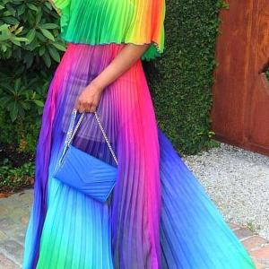 Colorful full length dress