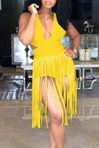 Fringe bathing suit