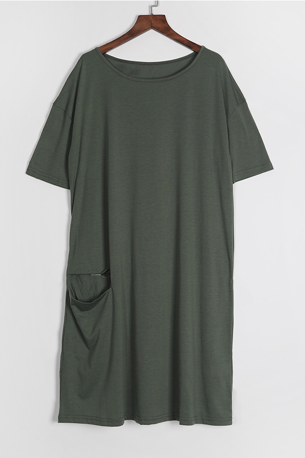 Green knotted dress
