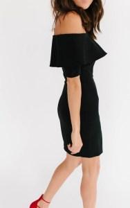 Off shoulder flounce dress2