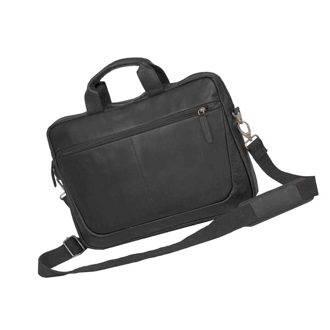 Genuine Leather Fancy Black Laptop Bag For Office