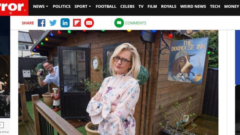 Exaspérée que son mari s'éclipse du domicile pour boire des bières, elle construit un bar dans son propre jardin (photos)