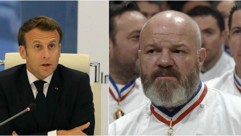 Échange tendu entre Philippe Etchebest et Emmanuel Macron: le chef veut «mettre un coup de pression» (vidéo)