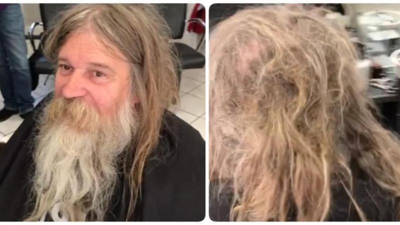Un barbier français fait un magnifique geste pour un sans-abri, rendu méconnaissable: la vidéo devient virale (vidéo)