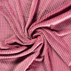 tissu polaire doudou gaufre