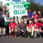 Rúmlega 500 þúsund krónur söfnuðust í Minningarsjóð Ölla í Reykjavíkurmaraþoni