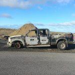 Bifreið brann til kaldra kola