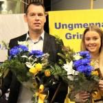 Hrund og Jón Axel íþróttafólk Grindavíkur