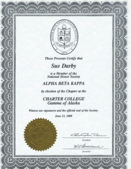 Alpha Beta Kappa Honors