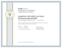 Comptia A+ Microprocessing And Ram
