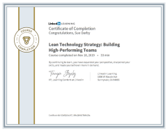 Lean Technology Strategy Building High Performing Teams