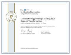 Lean Technology Strategy Starting Your Business Transformation