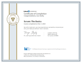 Certificate Of Completion Scrum The Basics