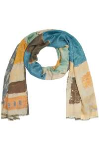 English Weather Pandora Scarf in Blue Jeans at Sue Parkinson