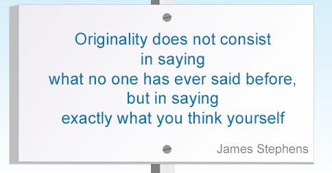 Originality Quotation on Noticeboard