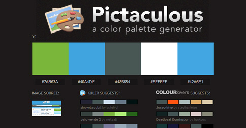 Pictaculous Website Color Finder