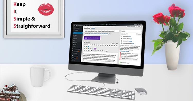 KISS blog post desktop mockup